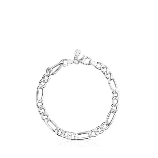 Bracelet TOUS Chain mix maille forçat en Argent