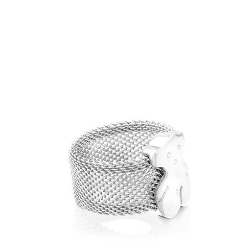 Ring Mesh aus Silber