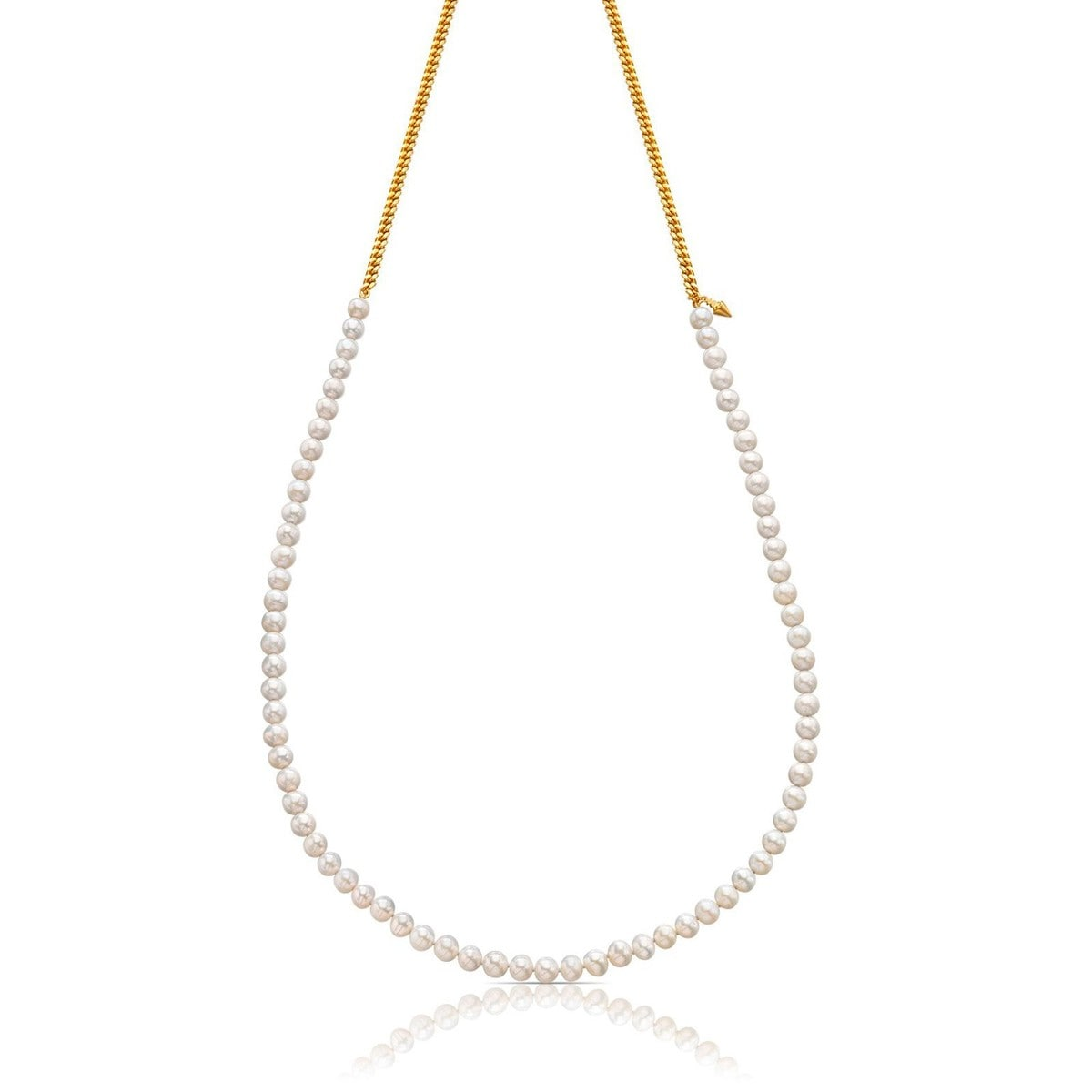 Vermeil Silver Hendel Necklace with Pearl
