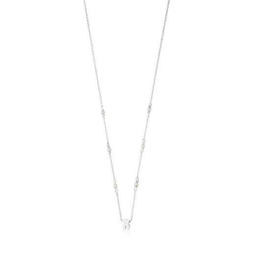 Collar de plata con perlas Super Power
