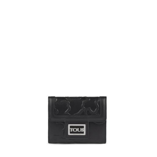 Billetera pequeña Tous Icon de piel negro