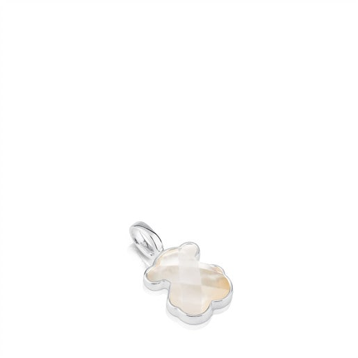 Silver and faceted mother-of-pearl TOUS Color Pendant. 1,5cm.