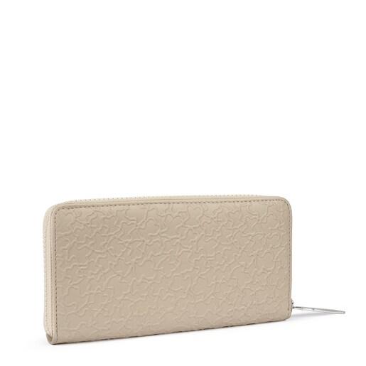 Medium beige leather Sira wallet