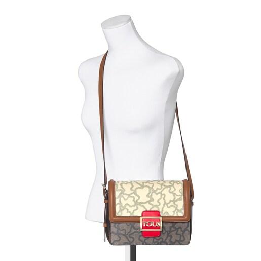 Medium Kaos Icon Multi Beige - Red Shoulder Bag