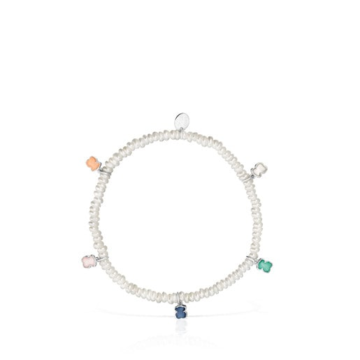 Mini Color Bracelet in Pearls and Gemstones