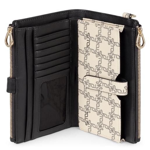 Beige New TOUS Logogram Clutch-wallet