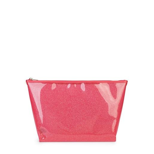 Medium coral colored Vinyl Kaos Shock Handbag
