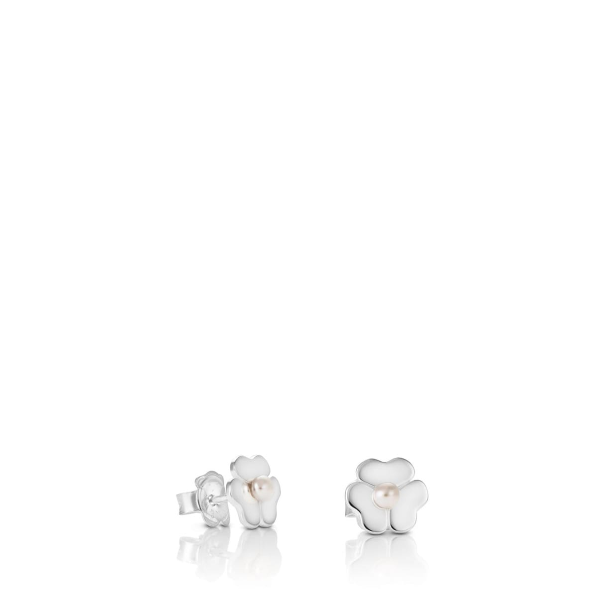 Silver Flor Earrings