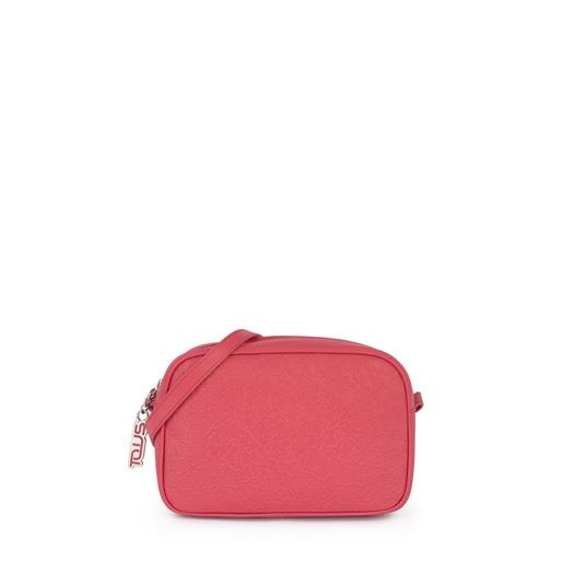 Μικρή τσάντα Χιαστί Sira από Δέρμα σε φούξια χρώμα