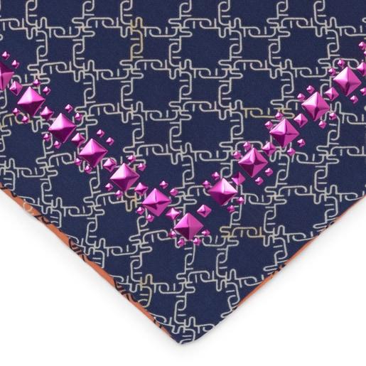 Μπλε Τετράγωνο Μαντήλι Logogram