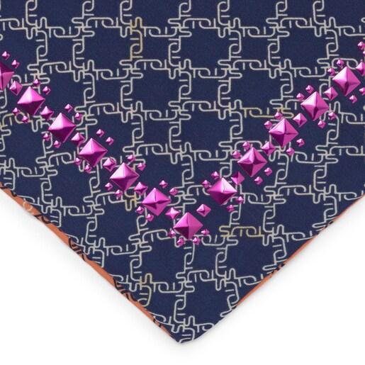 Pañuelo Cuadrado Logogram Azul
