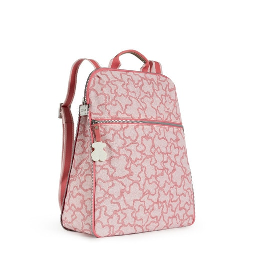 Rucksack Kaos New Colores aus Leinen in der Farbe Rosa