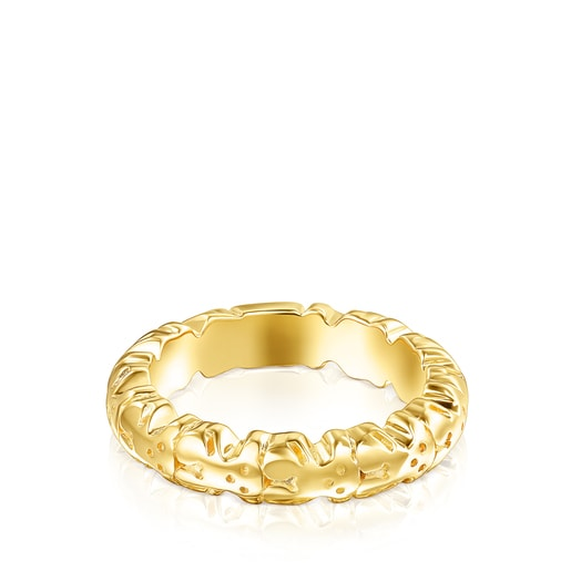 Silver Vermeil Straight XL Ring