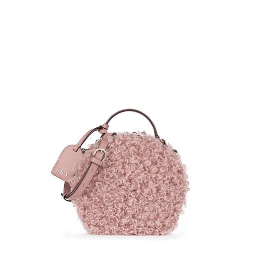 Μικρή τσάντα Χιαστί Dulzena Ritzo σε ροζ αντικέ χρώμα
