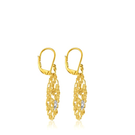 Gold Milosos Earrings with Diamonds