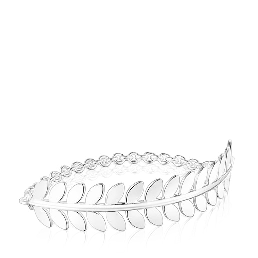 Pulsera Fragile Nature laurel de plata