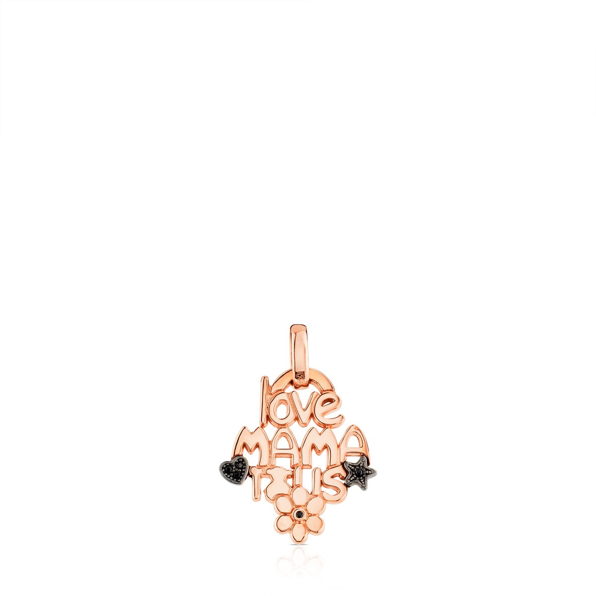 Pink Vermeil Silver TOUS Mama Pendant with Spinel