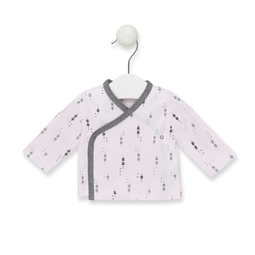 Camiseta cruzada M/L Luminary recién nadido Rosa