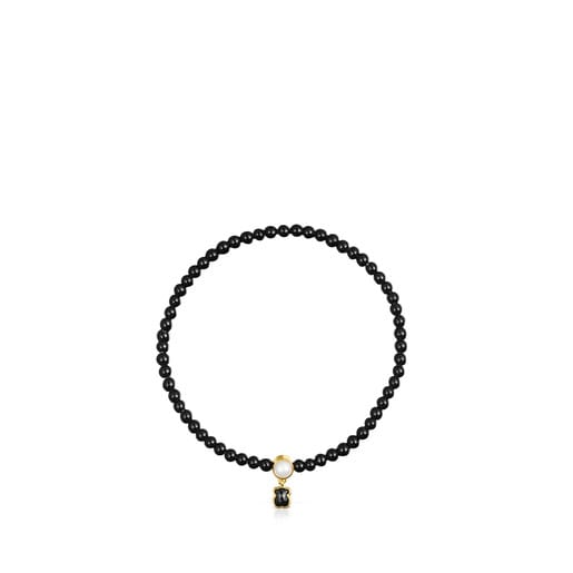 Glory Bracelet in Onyx and Silver Vermeil with Pearl